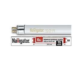 Лампа люминесцентная 94 106 NTL-T5-06-840-G5 6Вт T5 4200К G5 Navigator 94106