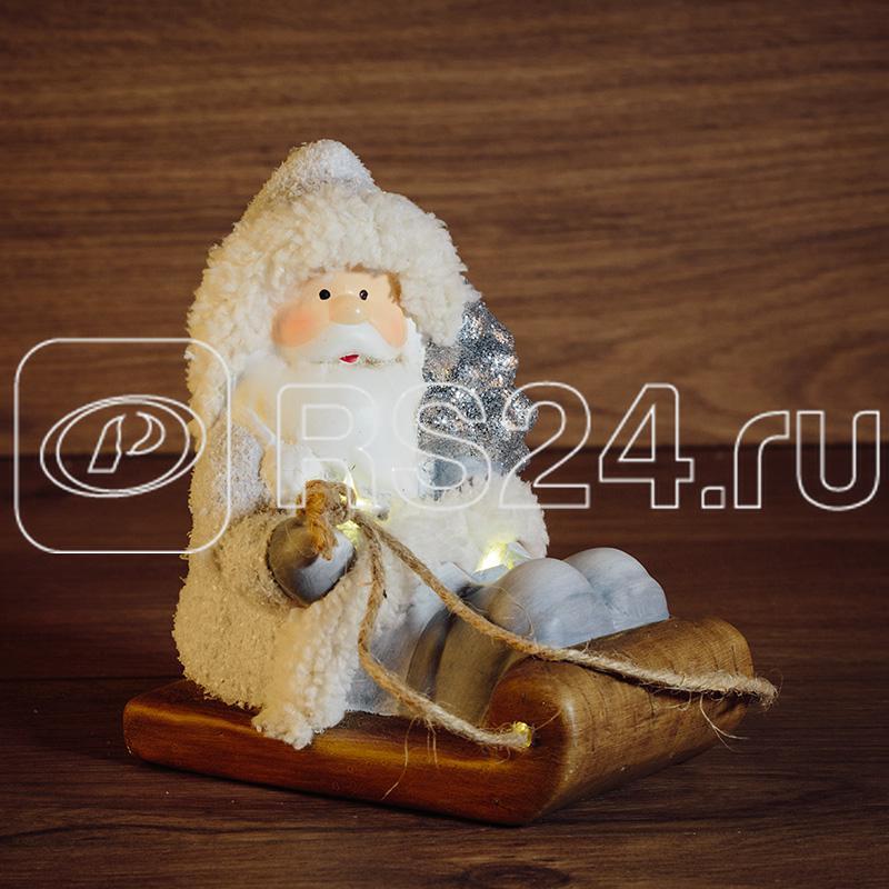 Фигура керамическая Дед Мороз на санях 13х9.5х14см Neon-Night 505-001 купить в интернет-магазине RS24