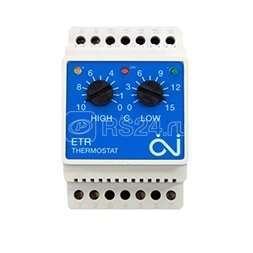 Термостат мех. ETR/F-1447A для систем антиоблед. датчик возд. 3. 6кВт 16А на DIN-рейку OJ ELECTRONICS купить в интернет-магазине RS24