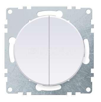 Механизм выключателя 2-кл. СП Florence 10А IP20 бел. 1E31501300 OneKeyElectro 2172776