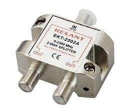 Делитель ТВ краб х2 под F разъем 5-2500 МГц СПУТНИК Rexant 05-6201 купить в интернет-магазине RS24