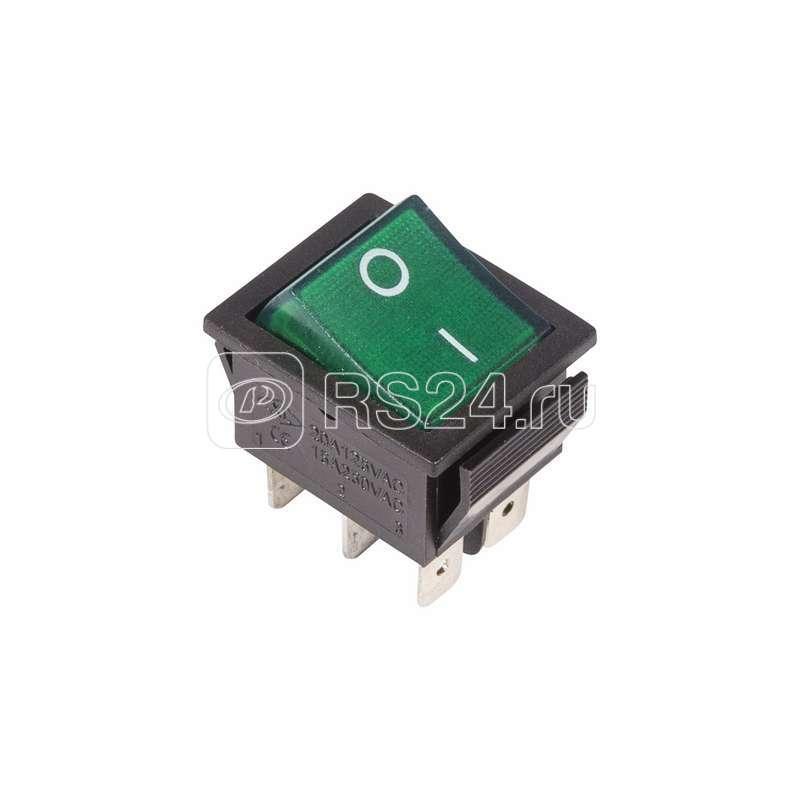 Выключатель клавишный 250В 15А (6с) ON-ON с подсветкой зел. (RWB-506; SC-767) Rexant 36-2352 купить в интернет-магазине RS24
