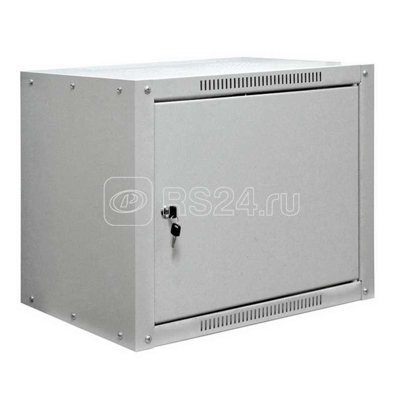 Шкаф настенный 19дюйм 9U 600х600х500мм металл. перед. дверь (стенки не съемные разобр.) RAL 70305 PROCONNECT 04-2071 купить в интернет-магазине RS24