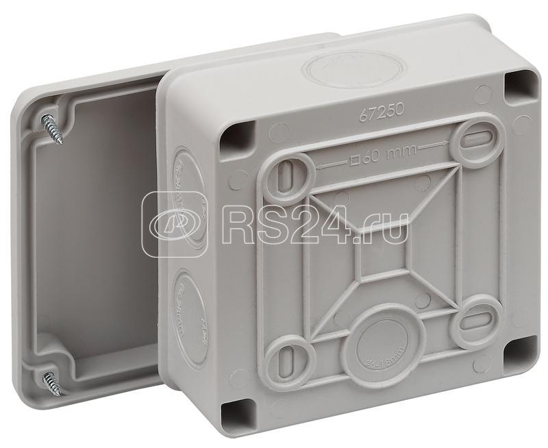 Коробка распределительная ОП 100х100х50мм двухкомпонентная 7 вводов IP65 сер. Ruvinil 67250