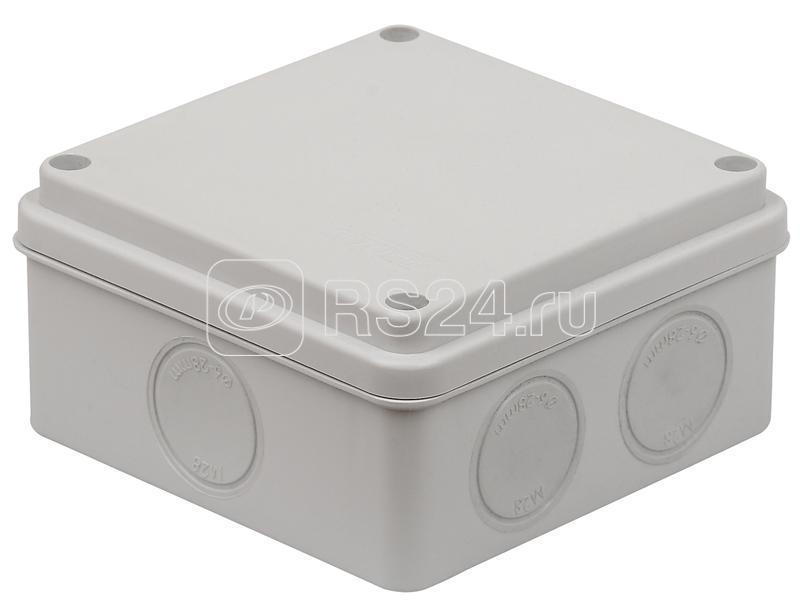 Коробка распределительная ОП 100х100х50мм двухкомпонентная 7 вводов IP65 сер. Ruvinil 67250 купить в интернет-магазине RS24