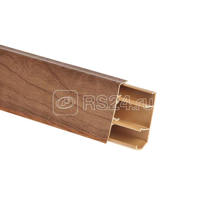 Кабель-канал плинтусный 50х10х18 L2500 пластик дуб Рувинил РКП-08М