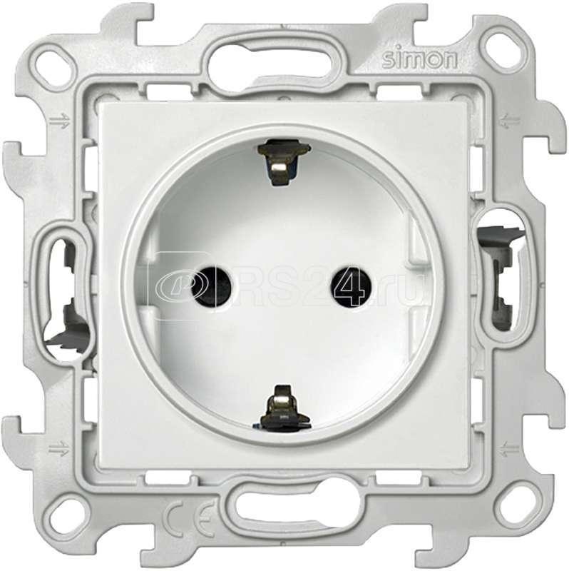 Механизм розетки 2К+З с защ. шторками Push&Go Simon24 бел. 2420432-030 купить в интернет-магазине RS24
