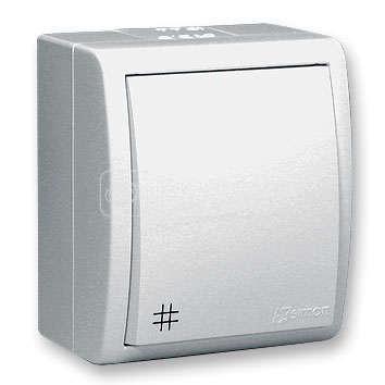 Выключатель проходной 1-кл. ОП Simon 15 10А IP54 с подсветкой винт. зажим бел. Simon 1594254-030 купить в интернет-магазине RS24
