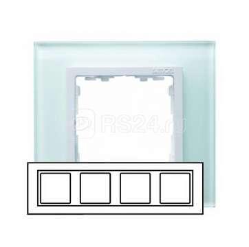 Рамка 4-м Simon82 стекло бел. Simon 82647-30