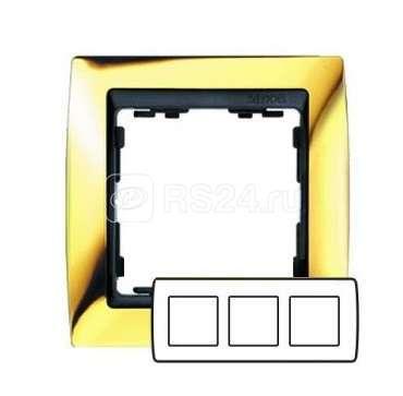Рамка 3-м Simon82 зол./графит Simon 82834-66