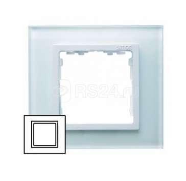 Рамка 1-м Simon82 натур. стекло Simon 82617-60