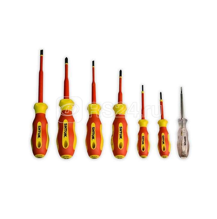 Набор отверток диэлектрических Ph0 Ph1 Ph2 Sl2.5 Sl4.0 Sl5.5 + тестер картон SHTOK 09330 купить в интернет-магазине RS24