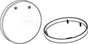 Комплект торцевых крышек Т120 металлик (уп.2шт) СТ 1572000040