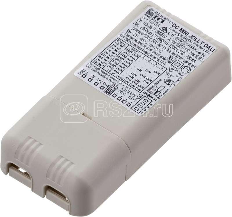 Драйвер LED 20Вт 250/350/400/450/500/550/600/700мА DALI (TCI DC MINI JOLLY DALI 122403) СТ 4002000050