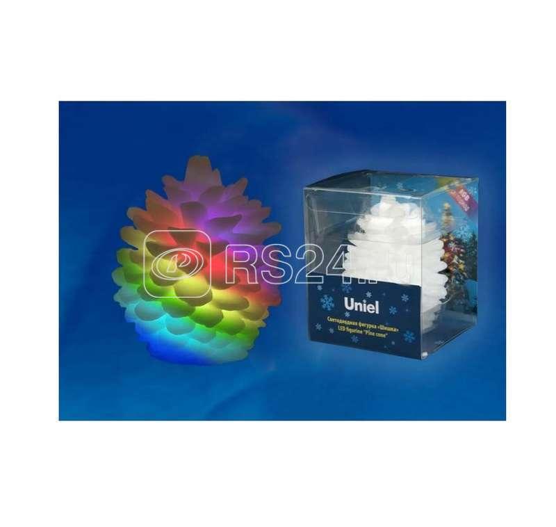 Гирлянда светодиодная «Шишка» ULD-F004 RGB PINE CONE на батарейке 6.5х8см Uniel UL-00001443 купить в интернет-магазине RS24
