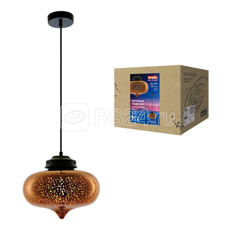 Светильник DLC-G444 E27 COPPER Uniel UL-00001834 купить в интернет-магазине RS24