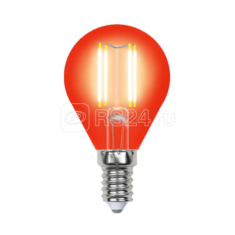 Лампа светодиодная LED-G45-5W/RED/E14 GLA02RD форма шар Air color красн. упак. картон Uniel UL-00002985 купить в интернет-магазине RS24