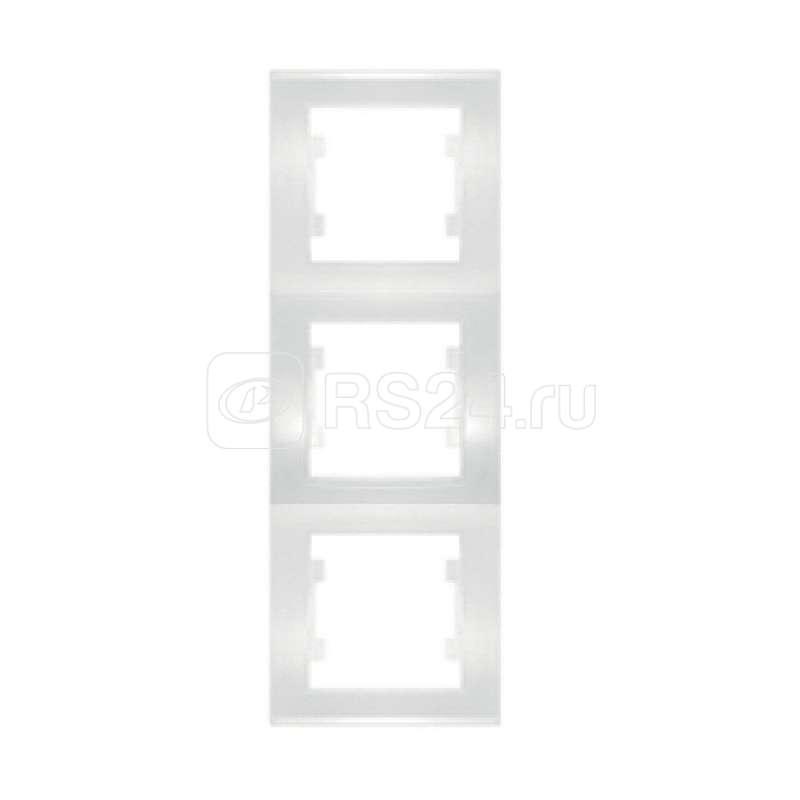 Рамка 3-м Бриллиант верт. бел. UNIVersal 7947472