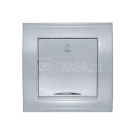 Кнопка звонка 1-кл СП Бриллиант с подсветкой серебр. UNIVersal 7949698 купить в интернет-магазине RS24