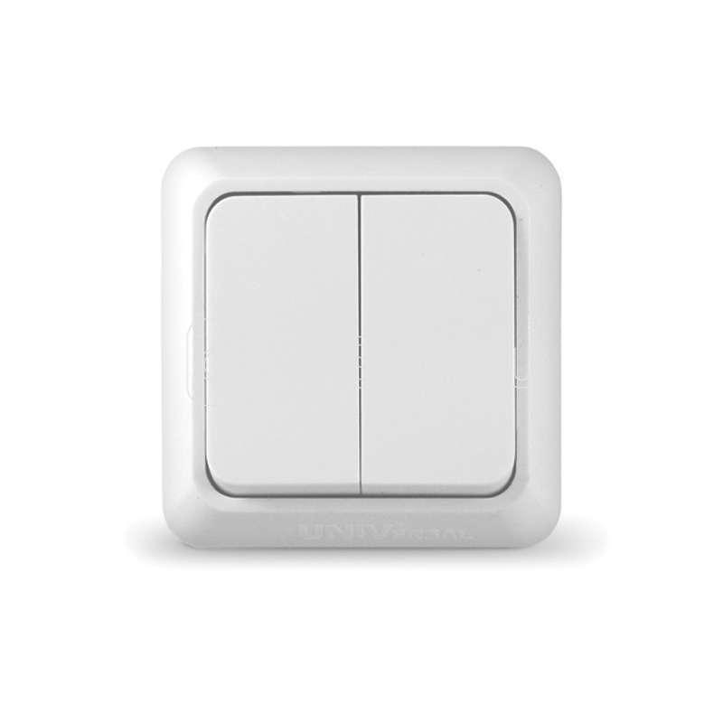 Выключатель 2-кл. ОП Олимп 10А IP20 бел. UNIVersal О0023