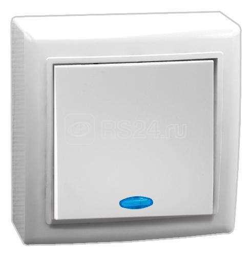 Выключатель 1-кл. ОП 10А IP20 V01-31-V12-S с индик. бел. Volsten 9837 купить в интернет-магазине RS24