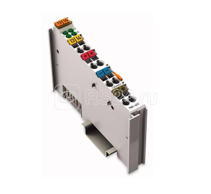 Модуль дискрет. ввода 4-канал. DC24 V 0.2 мс позитивная логика 2-3-проводное соед. WAGO 750-403 купить в интернет-магазине RS24